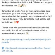 Paddy Raff Charity of the Month